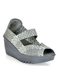 Bernie Mev | Gray Mary Jane Wedge | Lyst