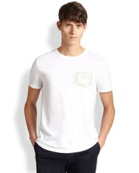 Burberry Brit | Red Lansley Pocket Tee for Men | Lyst