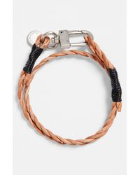 Caputo & Co. | Brown Braided Double Wrap Bracelet for Men | Lyst