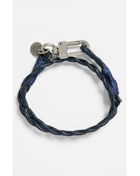 Caputo & Co. | Blue Braided Double Wrap Bracelet for Men | Lyst