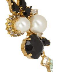 Erdem - White Vickisarge Goldplated Swarovski Pearl and Crystal Clip Earrings - Lyst