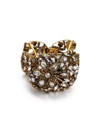 Erickson Beamon - Metallic Heart Of Gold Bracelet - Lyst