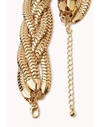 Forever 21 - Black Colorblocked Snake Chain Necklace - Lyst