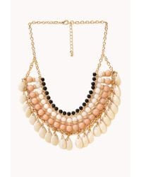 Forever 21 - Multicolor Worldly Beaded Bib Necklace - Lyst