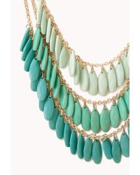 Forever 21 - Green Festive Layered Ombré Necklace - Lyst