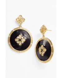 Freida Rothman | Black Circle Drop Earrings | Lyst