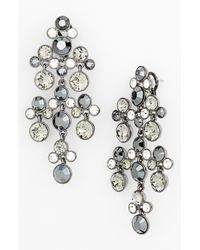 Givenchy | Metallic Silvertone Chandelier Earrings | Lyst