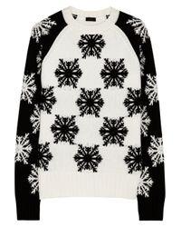 JOSEPH   White Snowflake Intarsia Wool Sweater   Lyst