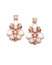 kate spade new york | Pink Faceted Chandelier Earrings | Lyst
