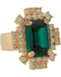 Mawi - Metallic Emerald Crystal Geometric Ring - Lyst