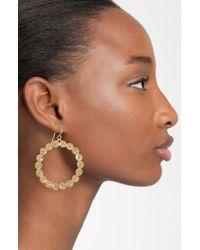 Melinda Maria | Metallic Remy Pod Frontal Hoop Earrings | Lyst