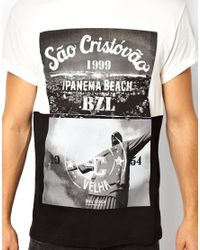 ASOS - White River Island Tshirt with Ipanema Beach Print - Lyst