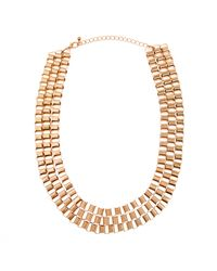 Piper Strand   Metallic Gold Box Chain Necklace   Lyst