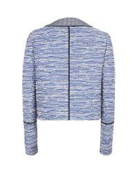 Proenza Schouler | Blue Asymmetric Placket Jacket | Lyst