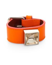 Proenza Schouler | Orange Ps11 Leather Bracelet/2 | Lyst