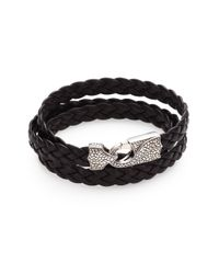 Stephen Webster | Brown Braided Leather Bracelet for Men | Lyst