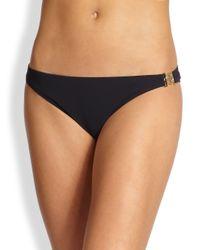 Tory Burch | Black Logo Bikini Bottom | Lyst