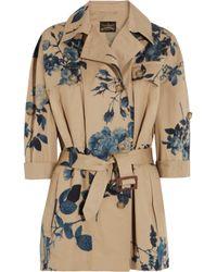 Vivienne Westwood Anglomania - Blue Printed Cotton twill Safari Jacket - Lyst