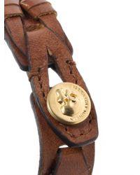 Alexander McQueen - Brown Braided Leather Bracelet for Men - Lyst
