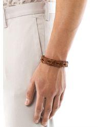 Alexander McQueen | Brown Braided Leather Bracelet for Men | Lyst