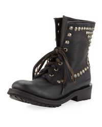 Ash | Ralph Studded Laceup Boot Black | Lyst