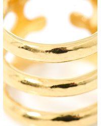 Aurelie Bidermann | Metallic Esteban Gold-Plated Ring | Lyst