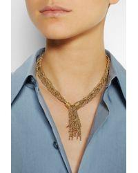 Aurelie Bidermann - Metallic Miki Gold-Plated Rope Necklace - Lyst