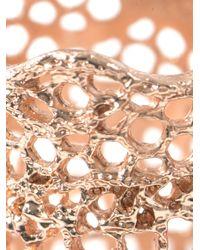 Aurelie Bidermann   Metallic Rose Gold-Plated Lace Ring   Lyst