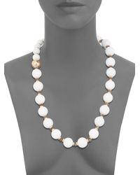 Di Modolo | White Agate Labradorite Necklace | Lyst
