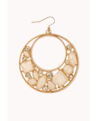 Forever 21 - White Opulent Cutout Drop Earrings - Lyst