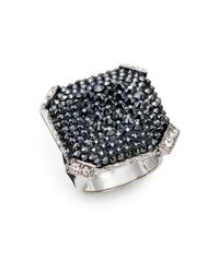 Judith Leiber | Metallic Christo Crystal Pavé Ring | Lyst