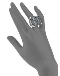 Judith Leiber - Metallic Christo Crystal Pavé Ring - Lyst