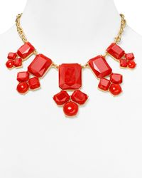 kate spade new york | Red Swirl Around Graduated Necklace 16 | Lyst