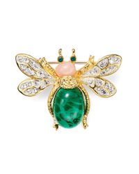 Kenneth Jay Lane - Green Jeweled Bug Pin - Lyst