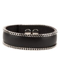 Saint Laurent | Black Double Chain Bracelet for Men | Lyst