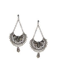 Sprayground - Black Warehouse Ornate Beaded Chandelier Drop Earrings - Lyst