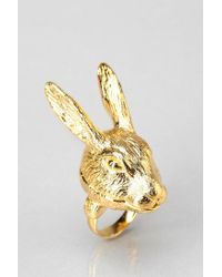 Andrea Garland | Metallic Lip Balm Hartley Hare Ring Medium | Lyst