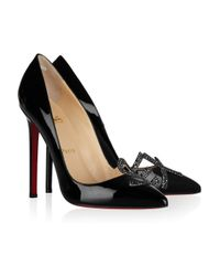 Christian Louboutin | Black Sex 120 Patent-Leather Pumps | Lyst