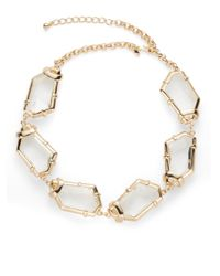 Kenneth Jay Lane - Metallic Faceted Freeform Necklace - Lyst