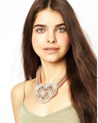ASOS - Natural Knot Collar - Lyst