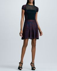 M Missoni | Multicolor Space Dye Mesh Dress | Lyst