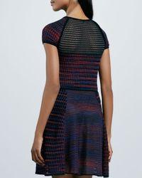 M Missoni - Multicolor Space Dye Mesh Dress - Lyst