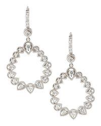 Penny Preville - Metallic Openpear Diamondhoop Earrings - Lyst