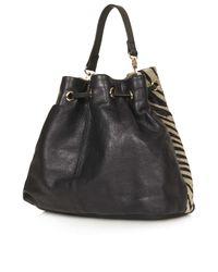 TOPSHOP - Black Pony Duffle Bag - Lyst