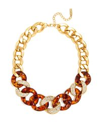 BaubleBar - Metallic Tortoise Crystal Link Necklace - Lyst