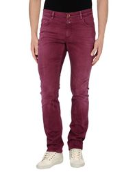 Closed | Red Denim Trousers for Men | Lyst