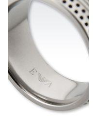 Emporio Armani - Gray Ring - Lyst