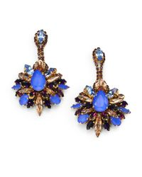 Erickson Beamon - Blue Winter Shade Of Pale Drop Earrings - Lyst
