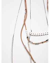 Free People - Brown Groupie Layered Necklace - Lyst