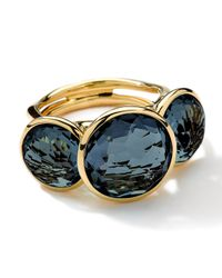 Ippolita | 18k Gold Lollipop 3stone Ring London Blue Topaz | Lyst